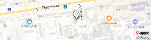 Ольха на карте Абакана