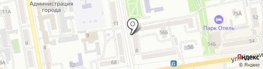 Абаканский, КПК на карте Абакана