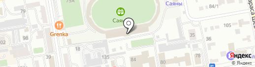 Федерация Кёкусин каратэ Красноярского края и республики Хакасия на карте Абакана