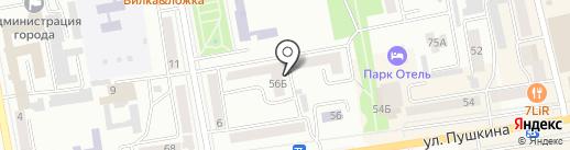 Ахтура, ТСЖ на карте Абакана
