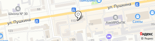Виола на карте Абакана