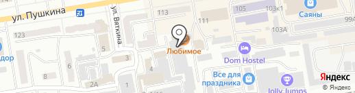 Семафор на карте Абакана