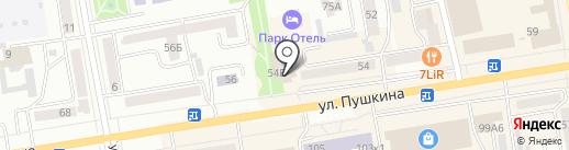 ТОПЕНАР на карте Абакана