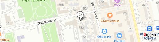 Толмашов Р.М. на карте Абакана