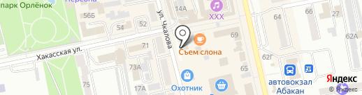 Галант на карте Абакана