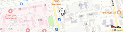 Левша на карте Абакана