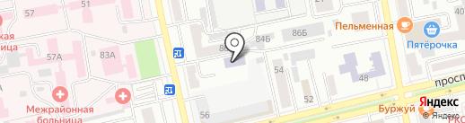 Хакасский колледж экономики, статистики и права, филиал Московского государственного университета экономики на карте Абакана