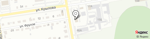 Монолит на карте Абакана