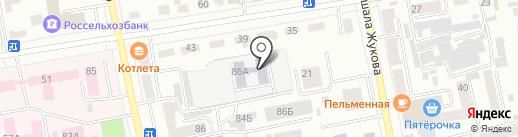 Колокольчик на карте Абакана