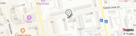 Копия центр на карте Абакана