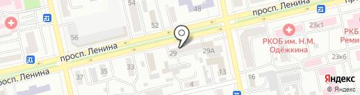 Ингвис на карте Абакана