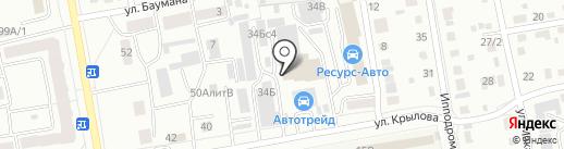 ЭлектроС на карте Абакана