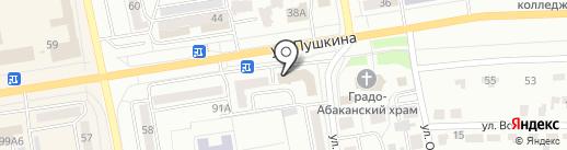 Хакасия на карте Абакана