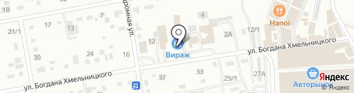 Вираж на карте Абакана