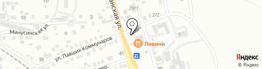 Автоспецсервис на карте Абакана