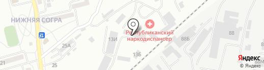 Автокар на карте Абакана