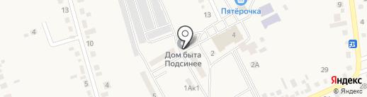 ЖКХ с. Подсинее, МУП на карте Подсинего