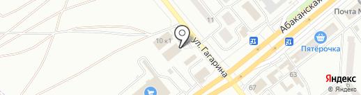Старт на карте Минусинска