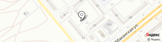 Детская библиотека №6 на карте Минусинска