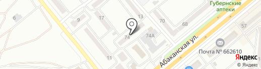 PUDRA на карте Минусинска