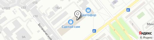 Светофор на карте Минусинска