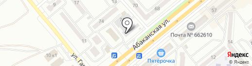 Теплый дом на карте Минусинска