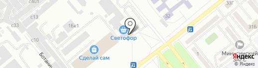 Паровозик на карте Минусинска