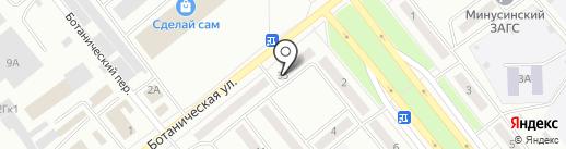 Губернский хлеб на карте Минусинска