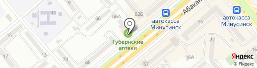 Банкомат, Газпромбанк на карте Минусинска