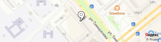 Зооцентр на ул. Тимирязева на карте Минусинска