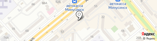 Дивная на карте Минусинска