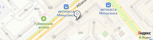 Финтерра на карте Минусинска