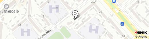 Милашка на карте Минусинска