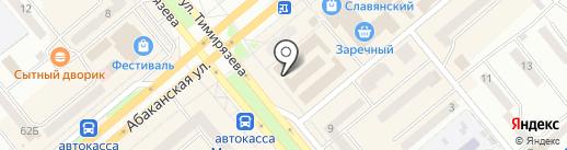 Магазин обоев и стройматериалов на карте Минусинска