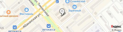 Зебра на карте Минусинска