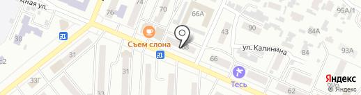 Николь на карте Минусинска