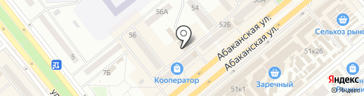 Выбор на карте Минусинска