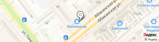 Франт на карте Минусинска