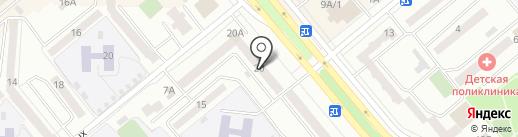 Ясень на карте Минусинска