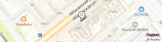 МегаФон на карте Минусинска
