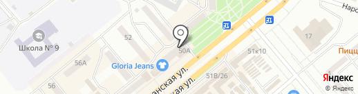 Сервисная служба на карте Минусинска