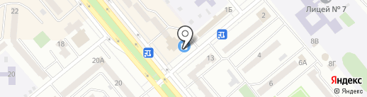 Магазин строительных материалов на карте Минусинска