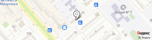 Бодрый день на карте Минусинска