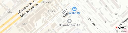 Системные решения на карте Минусинска