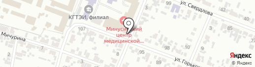 Кабинет урологии на карте Минусинска