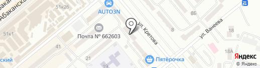 Хакасский муниципальный банк на карте Минусинска