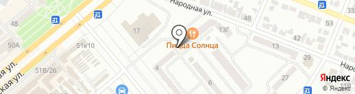 Калина на карте Минусинска