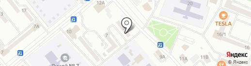 Магазин штор на ул. Кретова на карте Минусинска