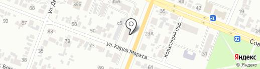 Батон на карте Минусинска