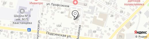 Агентство по обеспечению деятельности мировых судей на карте Минусинска